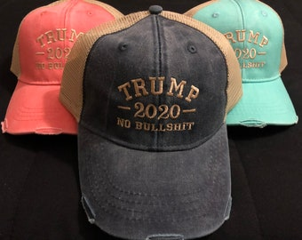 c0d05c372d5 Trump 2020 No Bullshit Hat