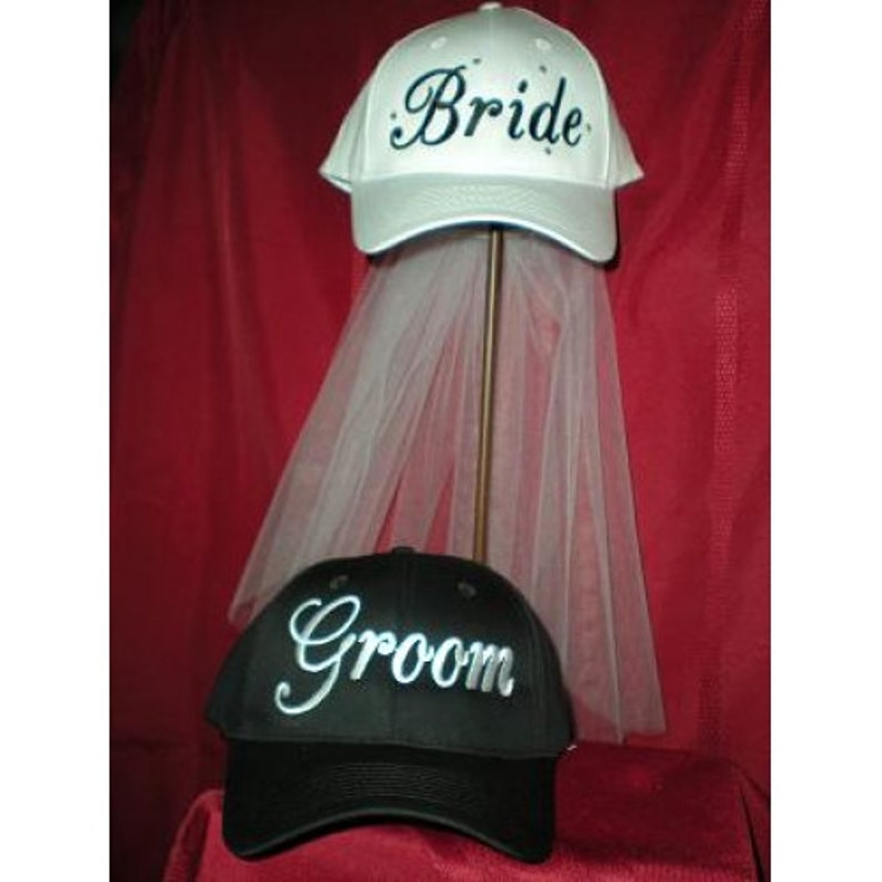 Bride and Groom Hat Set FREE SHIPPING image 0