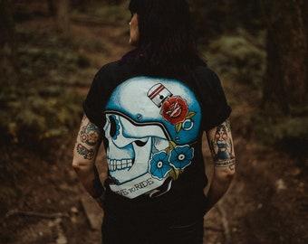 Live To Ride Biker Sugar Skull Tattoo Handmade Set Of 3 Gift Etsy