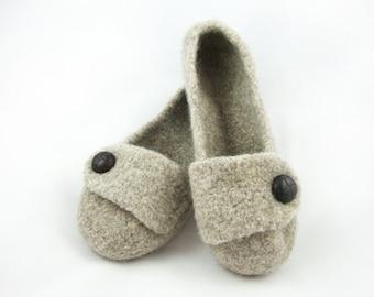 Barley Womens Felted Wool Slippers