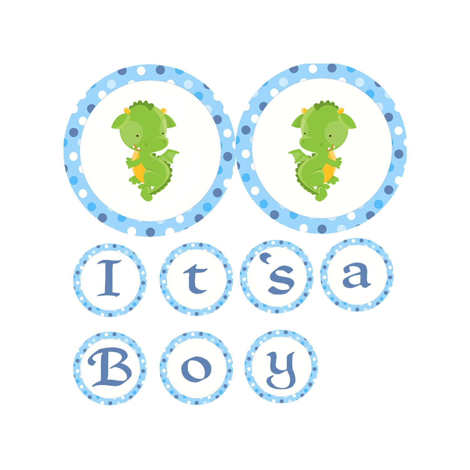 Dragon Baby Shower Its A Boy Banner Baby Shower Banner Etsy