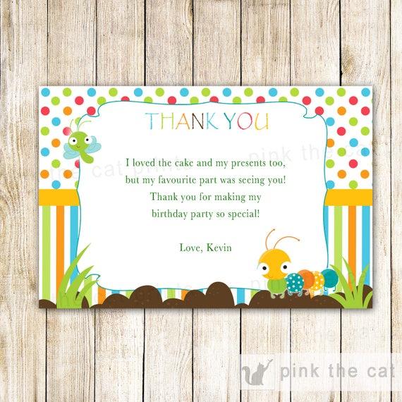 Caterpillar danke Karte Bugs danke Notizen Bugs Baby Dusche | Etsy