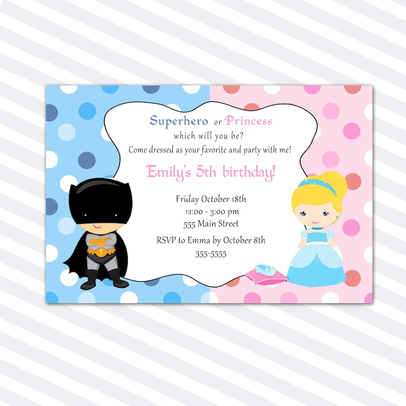 Princess Birthday Invitation Card