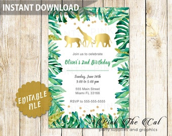 Best Selling Items. Favorite Favorited. Add To Added. Jungle Baby Shower  Invitation ...