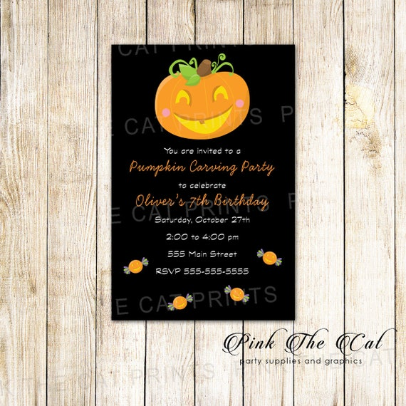 pumpkin carving invitation halloween invitation pumpkin