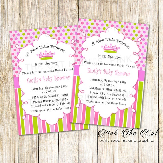 Princess Invitation New Little Princess Baby Shower Etsy