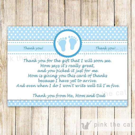 PRINTABLE Baby Feet Thank You Cards Girl Baby Shower INSTANT DOWNLOAD,