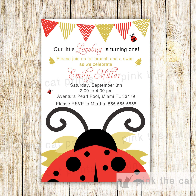 Mariquita invitación mariquita Baby Shower mariquita | Etsy