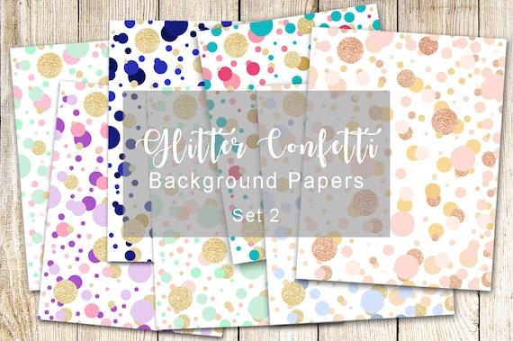 7 Glitter Confetti Metallic Background Paper Wallpaper Pink