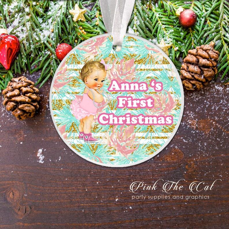New Baby Christmas Girl Ornament Christmas Gift For Girl Personalized Christmas Ornament For Newborn Old Style Baby Christmas Decoration