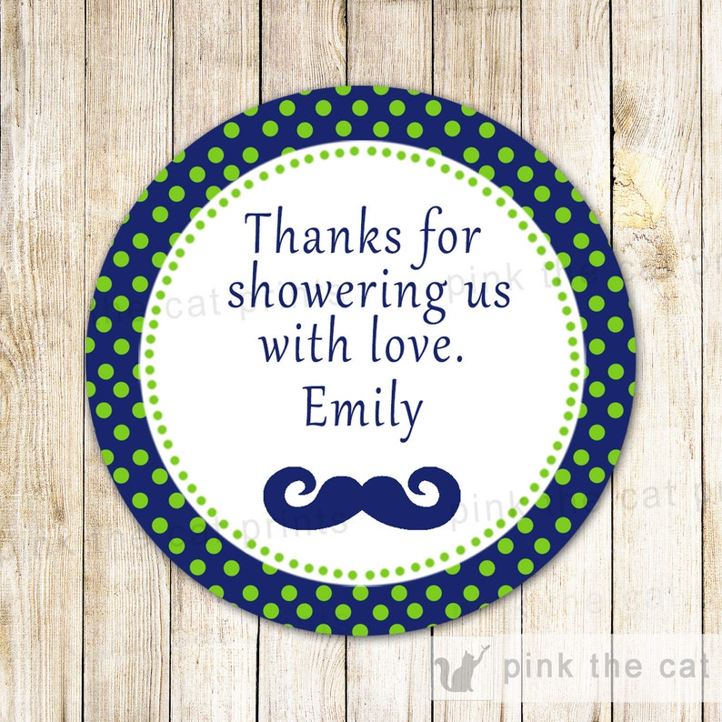 Little Man Baby Boy Shower INSTANT DOWNLOAD Mustache Thank You Label Mustache Gift Favor Tag Navy Blue Green Label Little Man Favor Label