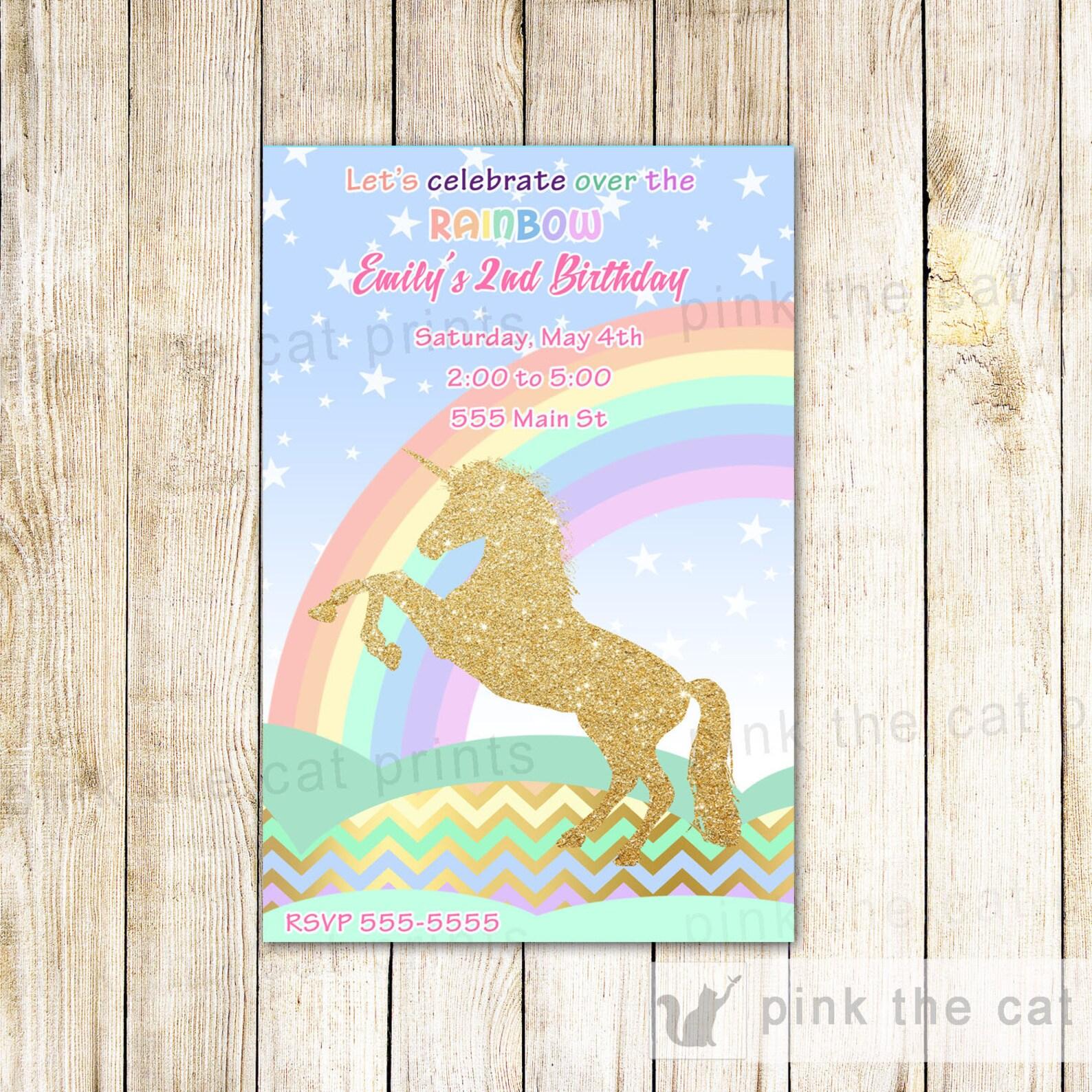 Printable Unicorn Invitations Page Seven