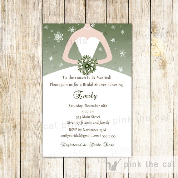 Winter bridal shower invitation sage green snowflake party etsy image 0 filmwisefo