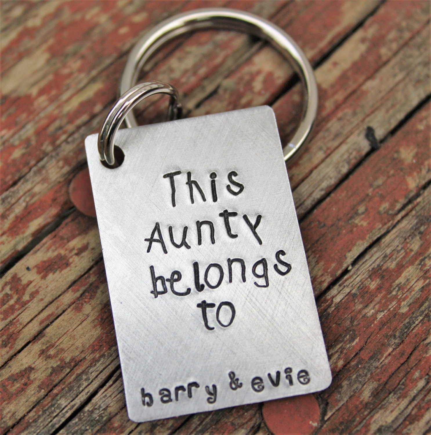 Custom Keychain for Aunt personalized gift for aunt keychain   Etsy