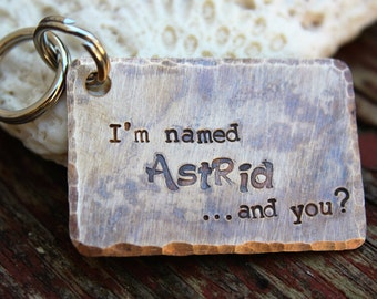 Custom Hand Stamped Dog ID Tag, Personalized Dog Tag, Tag for Large Dog, Copper Dog Tag, Aluminum Pet ID Tag