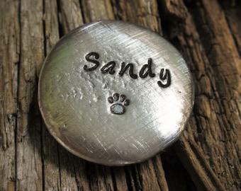 Pet Memorial Pocket Pebbles-Dog Memorial-Cat Memorial-Pet Remembrance-Worry Stone-Pewter