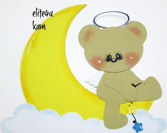Elite4u Kam Baby BEAR Die Cut Premade Paper Piecing for Scrapbook Layout Page