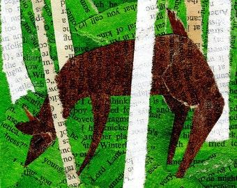 Deer Collage: Quarantine Series