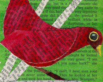 Red Bird Collage: Quarantine Series