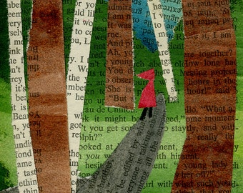 Little Red Riding Hood Collage: Quarantine Series