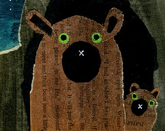 Brown Bear and Cub Collage: Quarantine Series