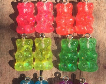 Small Gummy Bears Charms you pick the colors