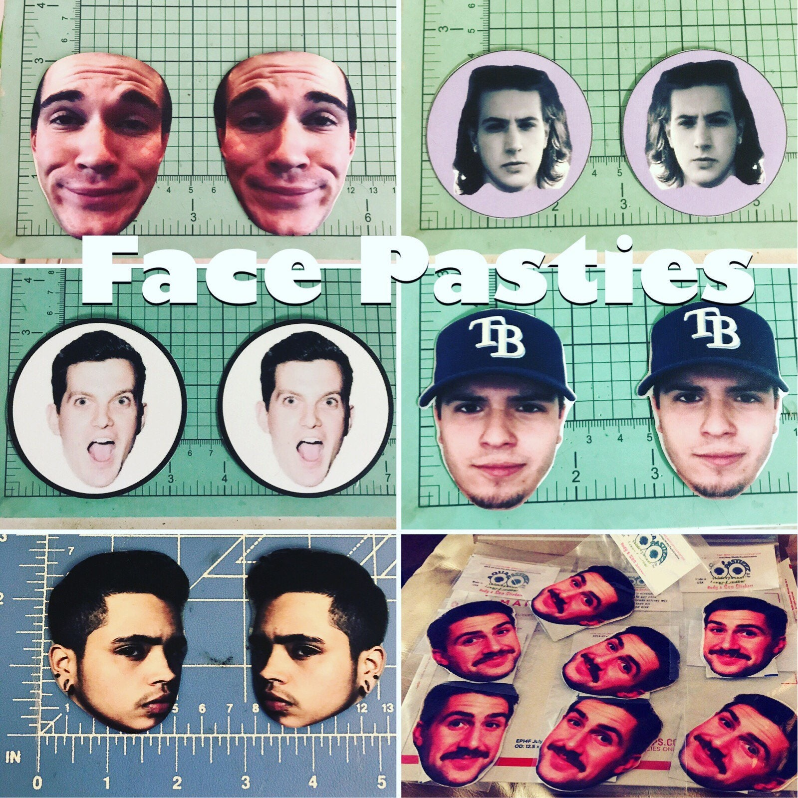 FaceTease Custom Face Pasties and body stickers