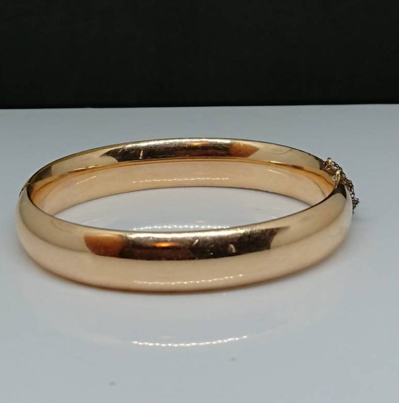 Green Co Circa 1930s ON SALE A.A Etched Swirl Repousse 110 G.F Hinged Bangle