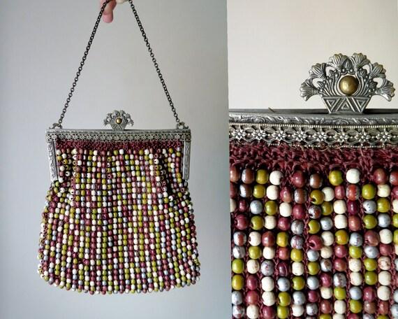 1930s Bead Crochet Handbag
