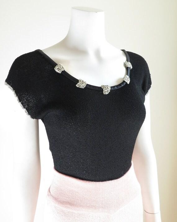 1940s Knit Top - M - image 2