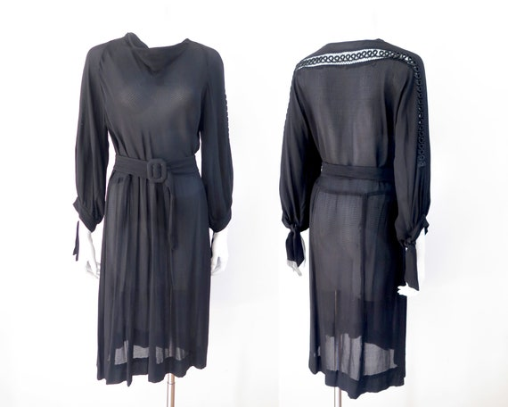 1930s Bohemian Gauze Dress - M