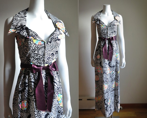 1970s Psychedelic Maxi - XS