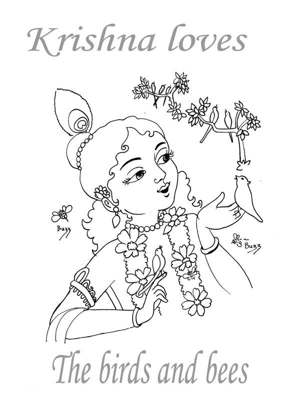 Krishna Kinder Malvorlagen download instant Syamarts A4