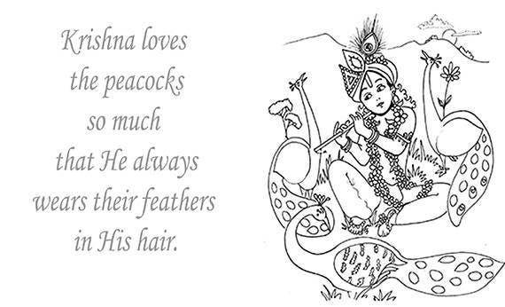 Krishna puede descargar dibujos para colorear para niños y | Etsy