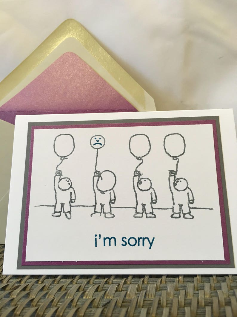 I/'m Sorry Notecard Blank Inside