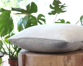 Cream pillow: stripe textured cream wool pillow, ivory pillow, white throw pillow, corduroy, modern home decor