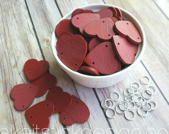 Add-On Red Painted Extra Hearts For Family Birthday Boards and Celebration Boards