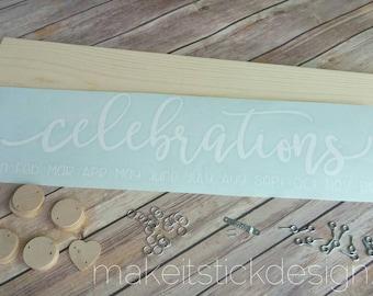 Family Birthday Board, DIY KIT, Celebration Board Diy Kit, Birthday Calendar Diy Kit, Family Celebrations Diy Kit