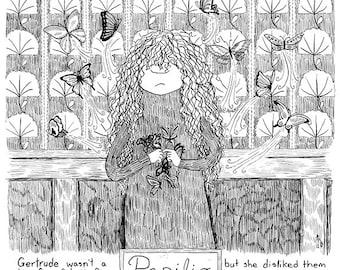 Gertrude: Butterflies comic