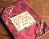 Red gothic journal, diary Notebook, Scrapbook, handmade book, Henri Matisse witchcraft quote, gift for an artist