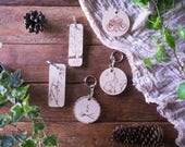 Personalised keyring, Personalized key chain Wooden key fob, keychains, celtic, nature & pagan designs engraved with pyrogrography