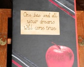 Gothic vampire journal, diary Notebook, Scrapbook, Unusual Wedding Guestbook, Gift for Twilight fan or Disney's Snow White
