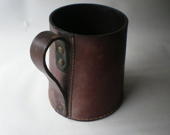 Vintage Leather Tankard or Mug