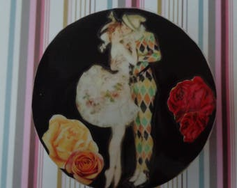The Ballerina and The Harlequin Collage Trinket Box by Pepperland