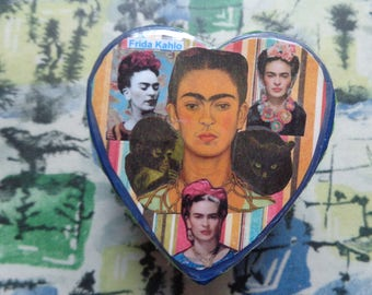 Frida Kahlo Collage Trinket Box by Pepperland