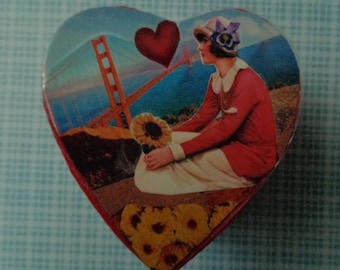 I left my Heart in San Francisco Collage Trinket Box by Pepperland
