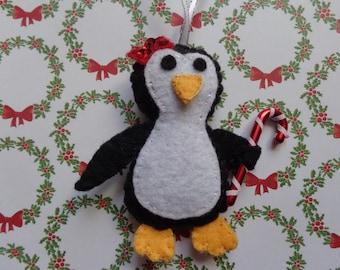 Christmas Penguin Ornament by Pepperland