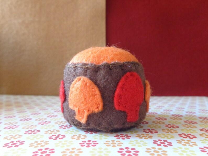Handmade Groovy Mushroom Felt Pin Cushion by Pepperland