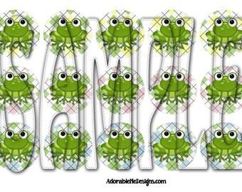Argyle Froggies Digital Bottle Cap Images