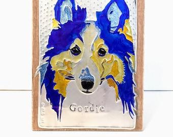 Recycled Metal Pop Can Custom Dog Breed Art